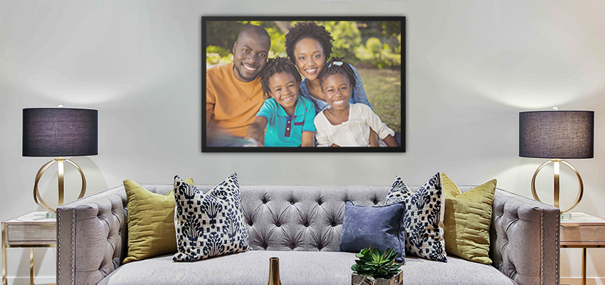 Aluminium Photo Panel in Metal Frames